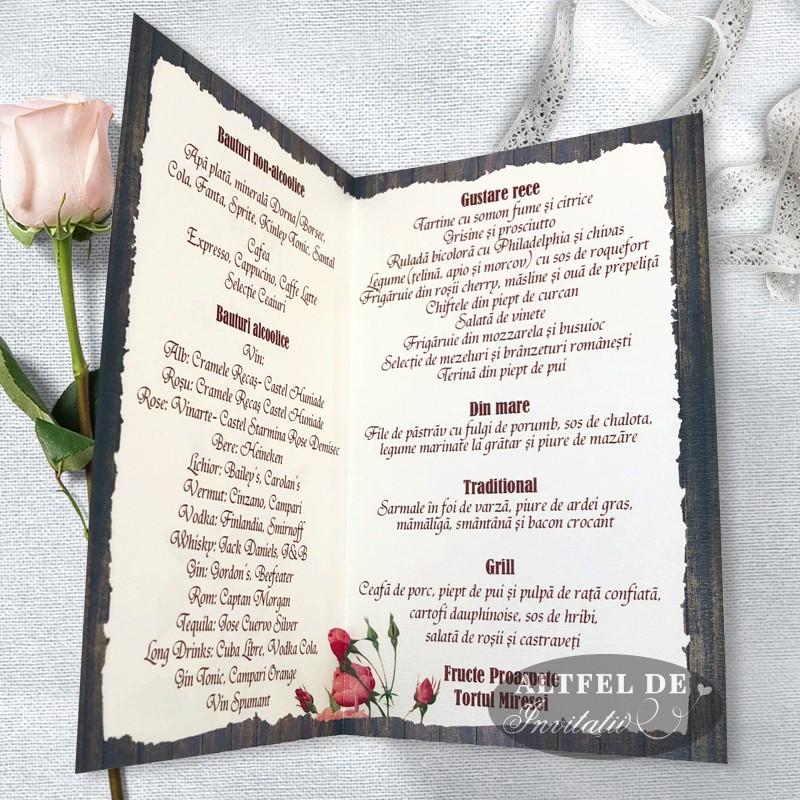 Meniu nunta Romantica: interior