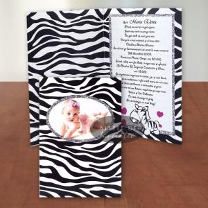 Invitatie botez Pui de zebra IB4