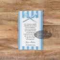 Card de multumire botez bleu