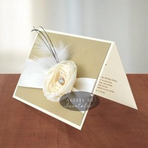 Invitatie vintage Diamant 028 crem