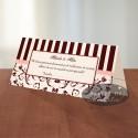 Plic de bani paris MCN7 crem-negru-rosu