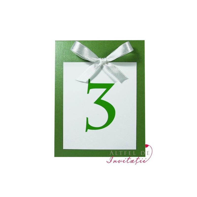 Numar masa NS4 verde-alb