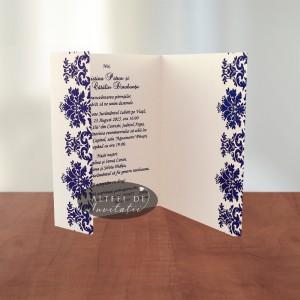 Invitatie de nunta Contraste alb verde - Altfel de invitatii