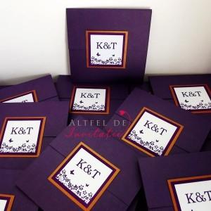 Invitatii moderne Un nou inceput CN1 violet