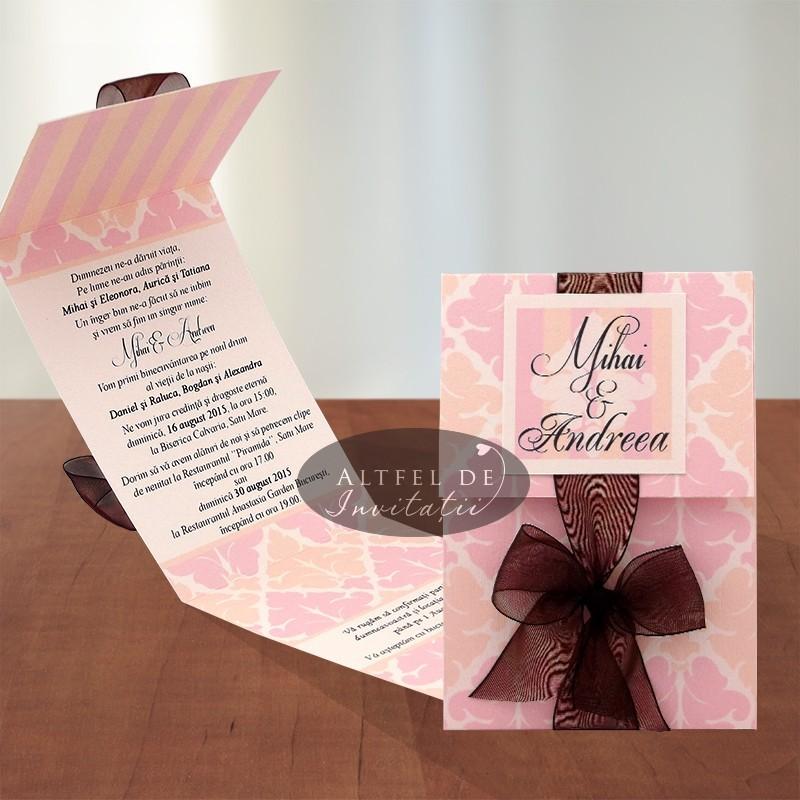 Invitatie de nunta Piersici