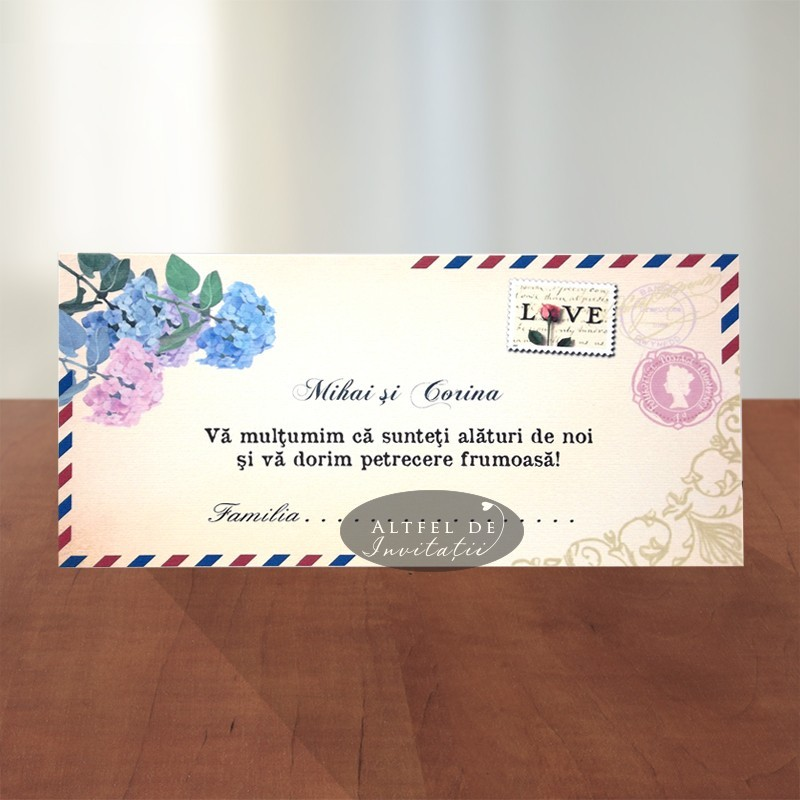 Place card Carte postala plic de bani