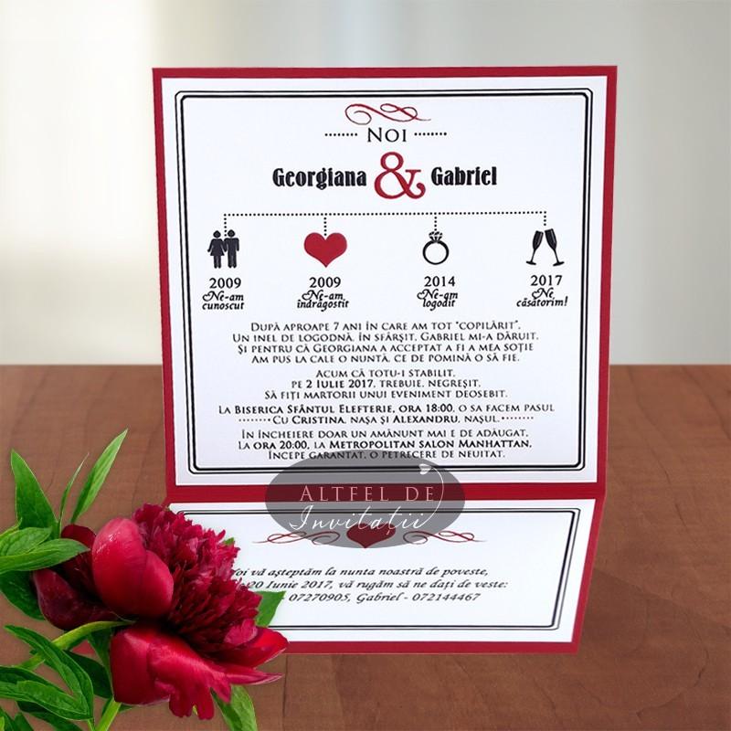Invitatie nunta happy end - Altfel de invitatii