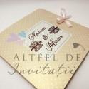 Invitatie nunta Dorinta mea maro-ivoir