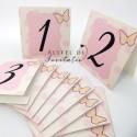 Numere de masa Botez Jucarii de plus roz