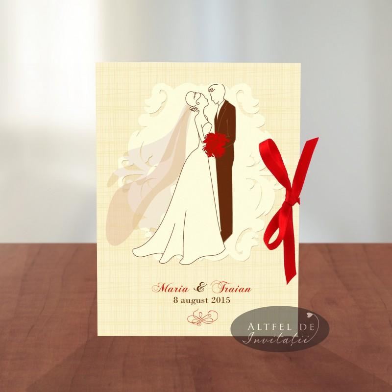 Invitatii nunta Mire si mireasa S2